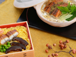 京のしぐれ茶漬と鰻の柳川鍋